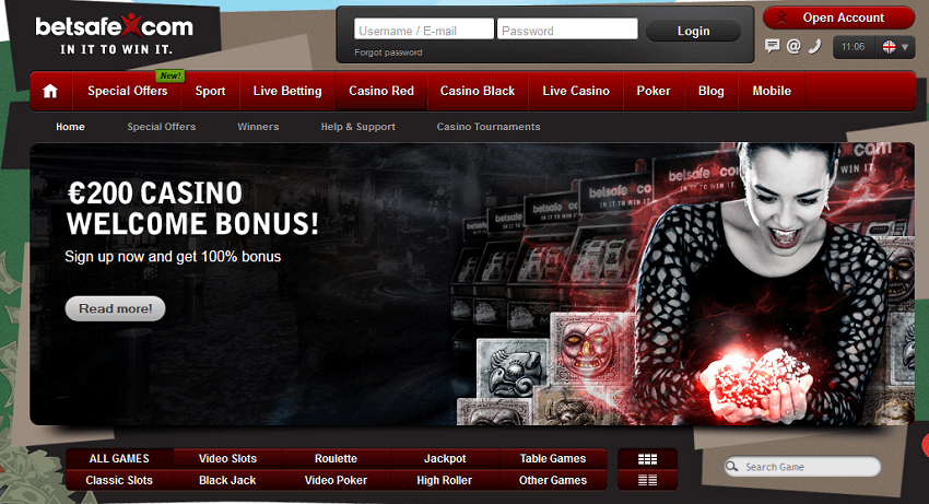 100 percent casin bonus 200 eur betsafe casino slots blackjack table games mobile slots