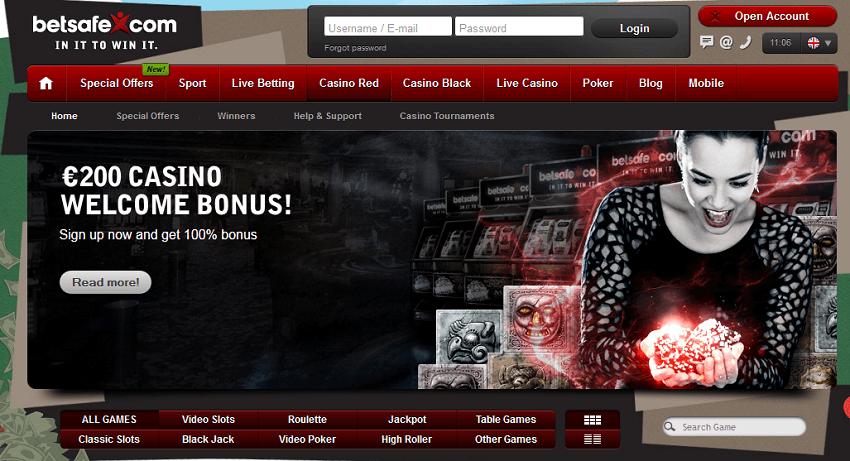 100 percent casin bonus 200 eur betsafe casino slots blackjack table games mobile slots